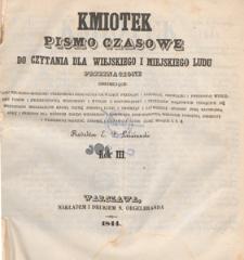 Kmiotek : pismo czasowe do czytania dla wiejskiego i miejskiego ludu przeznaczone, 1844.09.07 nr 36