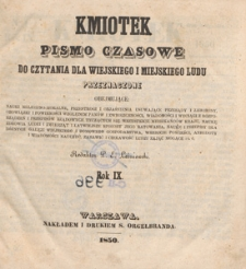 Kmiotek : pismo czasowe do czytania dla wiejskiego i miejskiego ludu przeznaczone, 1850.11.02 nr 44