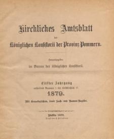 Kirchliches Amtsblatt des Königlichen Konsistorii der Provinz Pommern, 1879.10.01 nr 11