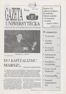 Gazeta Uniwersytecka, 1993, nr 2 (16)