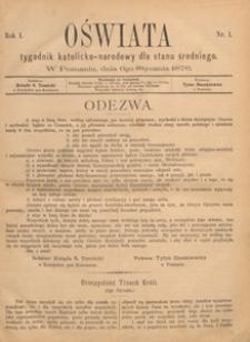 Oświata : tygodnik katolicko-narodowy dla stanu średniego, 1876.06.23 nr 25