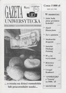 Gazeta Uniwersytecka, 1994, nr 8 (31)