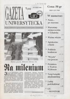 Gazeta Uniwersytecka, 1995, nr 1 (33)