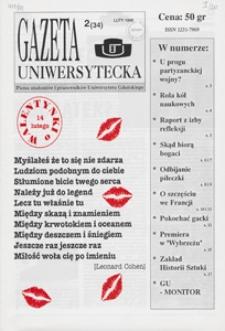 Gazeta Uniwersytecka, 1995, nr 2 (34)