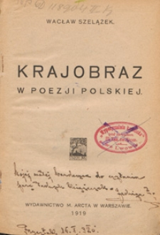 Krajobraz w poezji polskiej