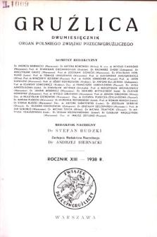 Gruźlica : organ Związku Przeciwgruźliczego, 1938, R. 13, z.1-6