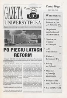 Gazeta Uniwersytecka, 1995, nr 7 (39)