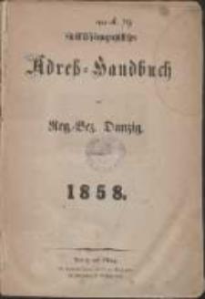 Statistisch-topographisches Adreß-Handbuch von Reg.-Bez. Danzig