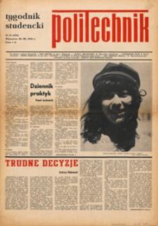 """Tygodnik studencki """"Politechnik"""", 1969, nr 12 (435)"""