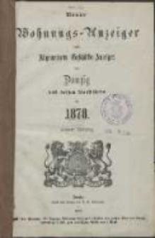 Neuer Wohnungs-Anzeiger nebst Allgem[eine] Geschäfts-Anzeiger von Danzig und den Vorstädten für [...] 1878