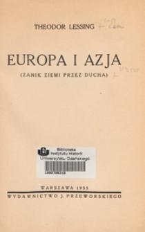 Europa i Azja : zanik ziemi przez ducha