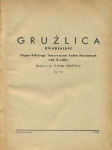 Gruźlica : organ Związku Przeciwgruźliczego 1947, R. 15, z. 1-4