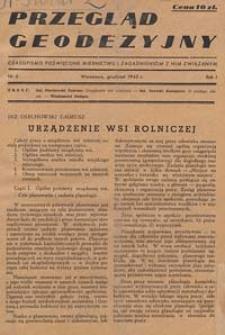 Przegląd Geodezyjny : czasopismo poświęcone miernictwu i zagadnieniom z nim związanym 1945 R. 1 nr 5