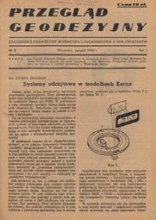 Przegląd Geodezyjny : czasopismo poświęcone miernictwu i zagadnieniom z nim związanym 1946 R. 2 nr 8