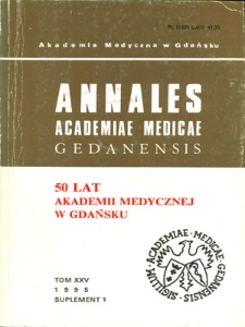 Annales Academiae Medicae Gedanensis, 1995, supl. 1