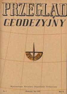 Przegląd Geodezyjny : czasopismo poświęcone miernictwu i zagadnieniom z nim związanym 1953 R. 9 nr 5