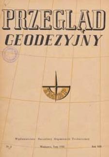 Przegląd Geodezyjny : czasopismo poświęcone miernictwu i zagadnieniom z nim związanym 1952 R. 8 nr 2