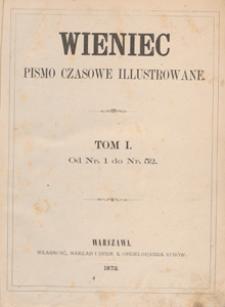 Wieniec : pismo czasowe ilustrowane. R. 1, 1872, nr 12