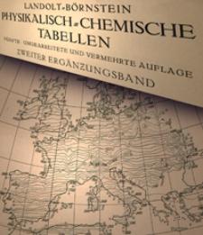 Landolt-Börnstein physikalisch-chemische Tabellen : Ergänzungsband. Bd. 2. T. 1