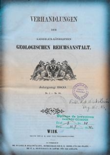 Verhandlungen der Geologischen Bundesanstalt Jg. 1869 Nr 1-18