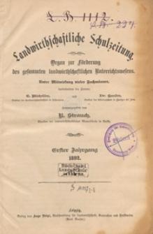 Landwirtschaftliche Schulzeitung : Organ zur Förderung des Gesammten Landwirtschaftlichen Unterrichtswesens, 1892. Jg 1, nr 22