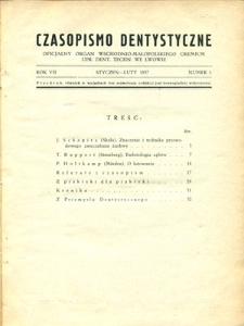 Czasopismo Dentystyczne 1937, R. 7, nr 1-6