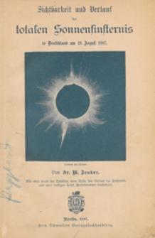 Sichtbarkeit und Verlauf der totalen Sonnenfinsternis in Deutschland am 19. August 1887