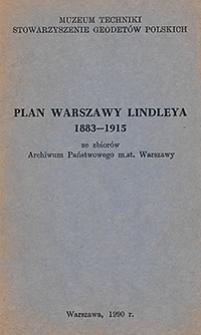 Plan Warszawy Lindleya 1883-1915 ze zbiorów Archiwum Państwowego m. st. Warszawy