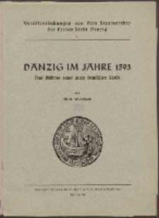 Danzig im Jahre 1593 : das Bildnis einer alten deutschen Stadt