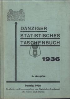 DANZIGER STATISTISCHES TASCHENBUCH 1936