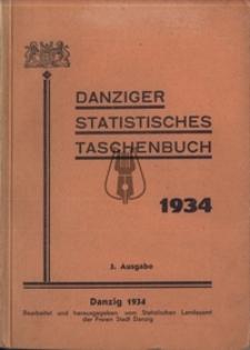 DANZIGER STATISTISCHES TASCHENBUCH 1934