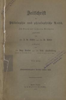 Zeitschrift für Philosophie und philosphische Kritik, 1889 Bd. 95 H. 1