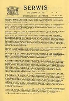 Serwis informacyjny Politechniki Gdańskiej, Nr 4, dnia: 16.04.1991