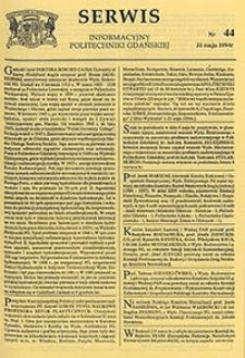 Serwis informacyjny Politechniki Gdańskiej, Nr 44, dnia: 31.05.1994