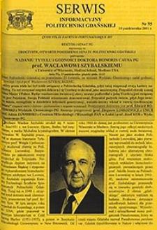 Serwis informacyjny Politechniki Gdańskiej, Nr 95, dnia: 10.10.2001