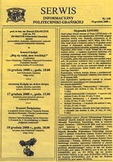 Serwis informacyjny Politechniki Gdańskiej, Nr 138, dnia: 10.12.2008