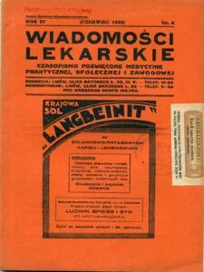 Wiadomości Lekarskie 1930, R.3, nr 6,7,10-11