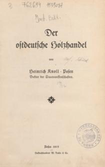 Der ostdeutsche Holzhandel