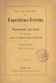 Jahresbericht des Coppernicus-Vereins für Wissenschaft und Kunst : abgestattet in der öffentlichen Sitzung des Vereins am 19. Februar 1874