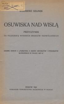 Osuwiska nad Wisłą : przyczynek do fizjografji wysokich brzegów nadwislańskich