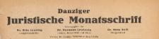 Danziger Juristen-Zeitung, 1927 nr 2