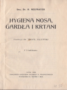 Hygiena nosa, gardła i krtani