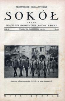 """Przewodnik Gimnastyczny """"Sokół"""", 1934, Nr 10"""