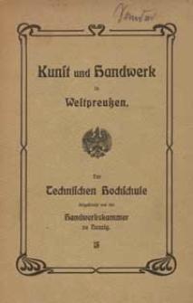 Festschrift der Handwerkskammer zu Danzig : aus Anlass der Einweihung der Technischen Hochschule zu Danzig