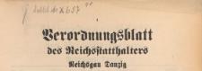 Verordnungsblatt des Reichsstatthalters, Reichsgau Danzig, 1939.11.04 nr 2