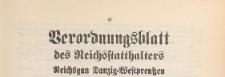 Verordnungsblatt des Reichsstatthalters, Reichsgau Danzig-Westpreussen, 1939.11.25 nr 9