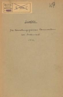 Die Verwaltungsgrenzen Pommerellens zur Ordenszeit : (Teildruck)