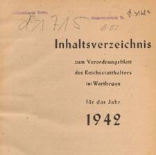 Verordnungsblatt des Reichsstatthalters im Reichsgau Wartheland, 1942 nr 22
