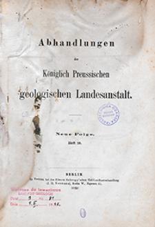 Abhandlungen der Königlich Preussischen Geologischen Landesanstalt : neue Folge 1895 H. 19