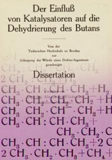Der Einfluss von Katalysatoren auf die Dehydrierung des Butans